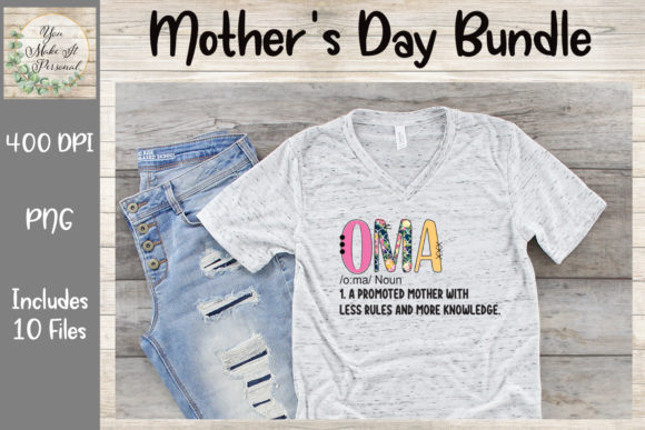 Print on Demand: Mother's Day Bundle, Doodle Font Graphic Print Templates By You Make It Personal - Image 4