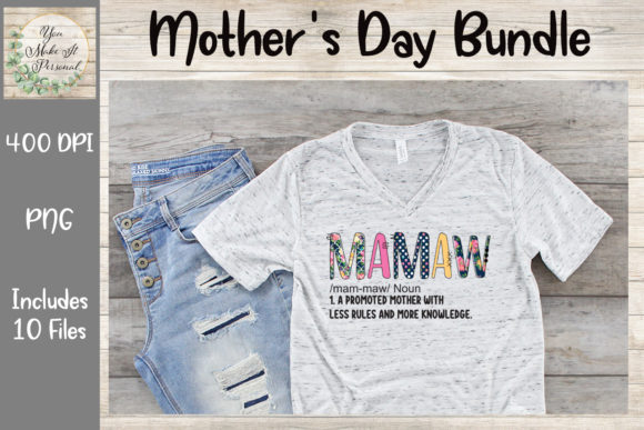 Print on Demand: Mother's Day Bundle, Doodle Font Graphic Print Templates By You Make It Personal - Image 7