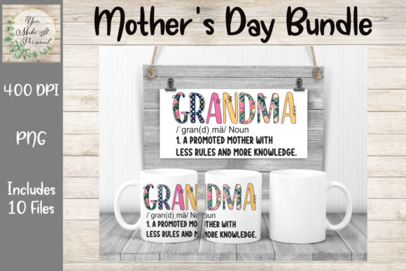 Print on Demand: Mother's Day Bundle, Doodle Font Graphic Print Templates By You Make It Personal - Image 8