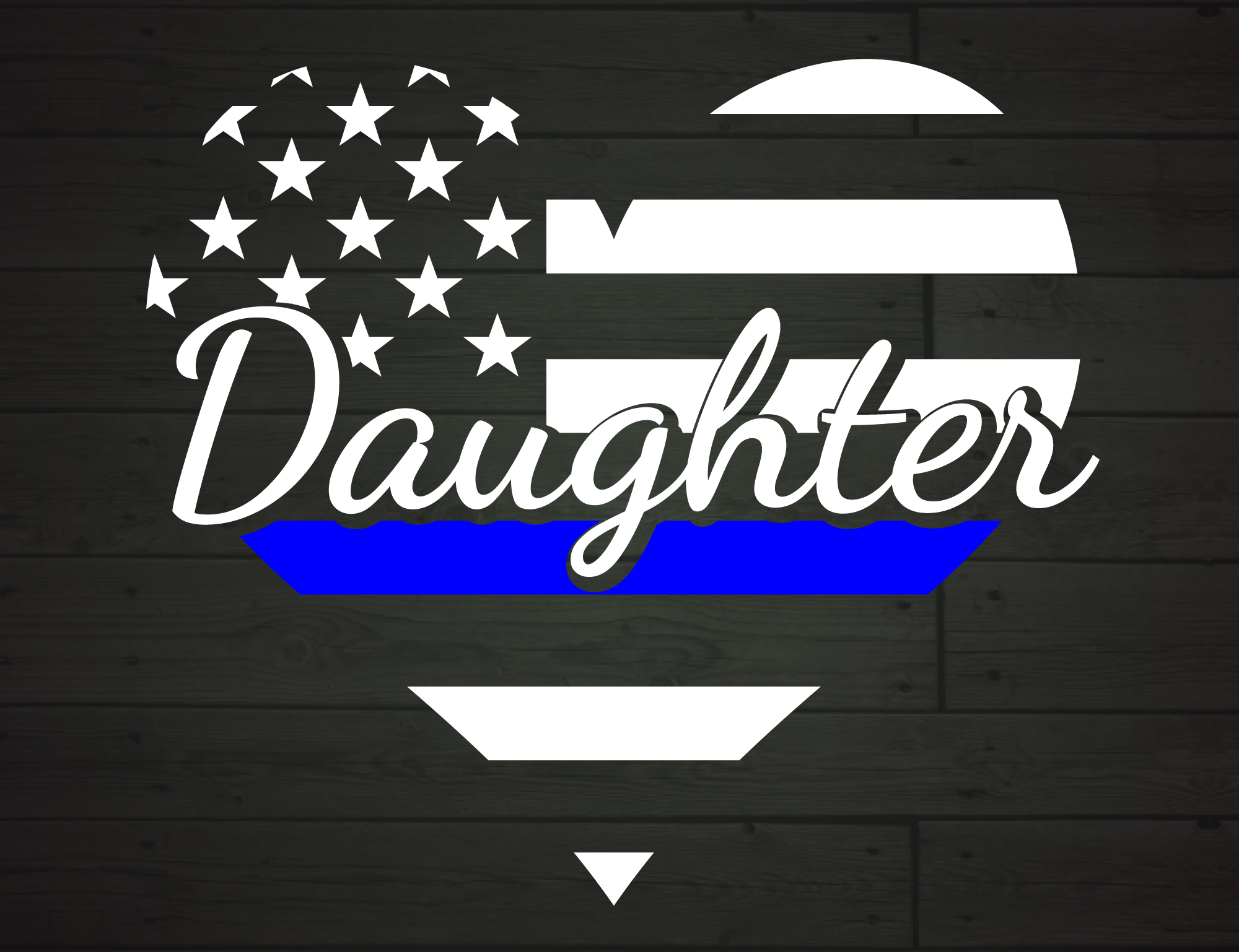 Download Free Police Daughter Heart Thin Blue Line Graphic By Nicetomeetyou Creative Fabrica for Cricut Explore, Silhouette and other cutting machines.