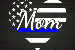 Download Free Police Mom Heart The Thin Blue Line Graphic By Nicetomeetyou for Cricut Explore, Silhouette and other cutting machines.