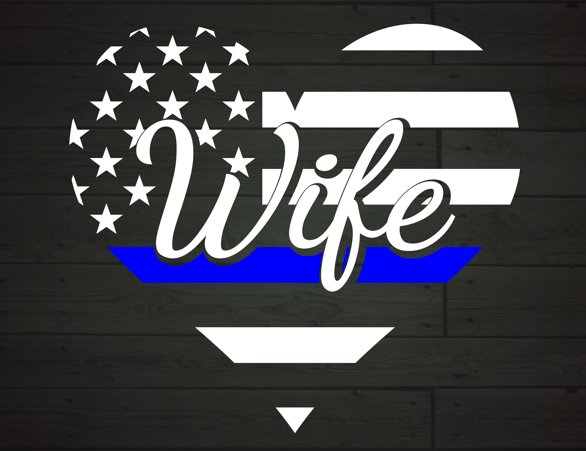 Download Free Police Wife Heart The Thin Blue Line Grafico Por Nicetomeetyou for Cricut Explore, Silhouette and other cutting machines.
