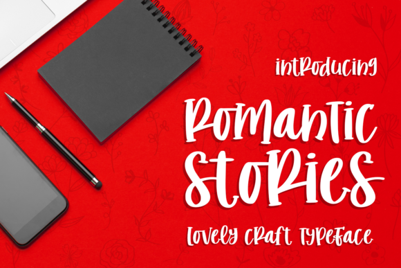 Print on Demand: Romantic Stories Script & Handwritten Font By Abodaniel