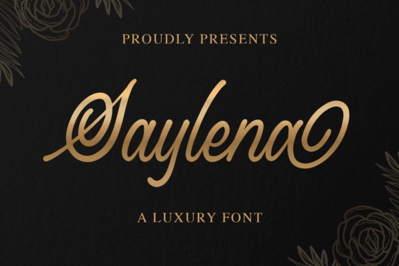 Print on Demand: Saylena Script & Handwritten Font By Blankids Studio