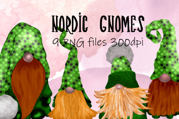 Print on Demand: Scandinavian Tomte Gnomes - St Patrick's Graphic Illustrations By CC Paper Studio