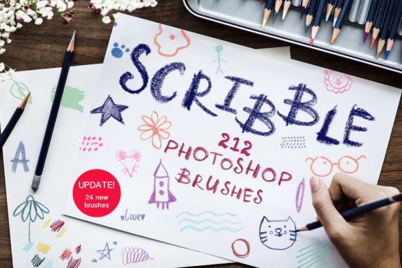 Scribble-PS Brushes Graphic Brushes By Vera Vero