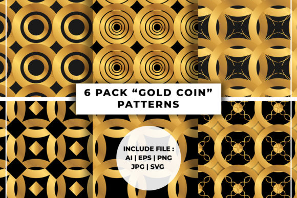 Print on Demand: Seamless Patterns Gold Effect Graphic Patterns By damasyp
