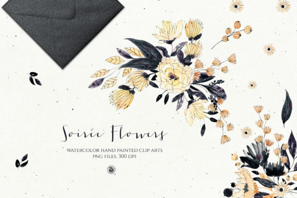 Print on Demand: Soiree Flowers Graphic Illustrations By webvilla - Image 1