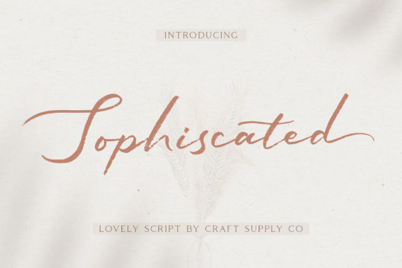 Print on Demand: Sophiscated Script & Handwritten Font By craftsupplyco