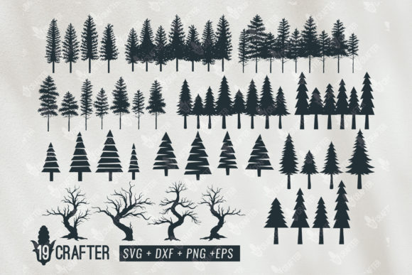 Print on Demand: Tree Forest, Pine Tree Forest Bundle Graphic Crafts By great19