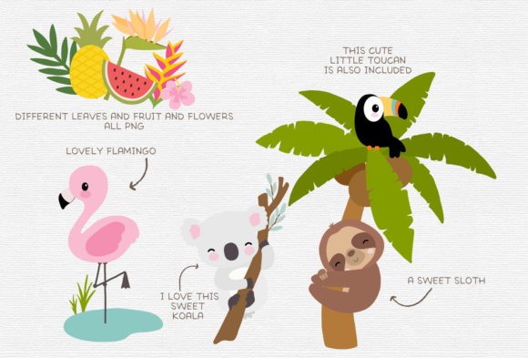 Tropical Clipart Graphic Illustrations By ThePaperOwl - Image 2