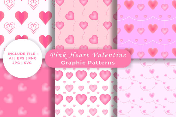 Download Free Valentine S Day Heart Seamless Patterns Graphic By Damasyp for Cricut Explore, Silhouette and other cutting machines.