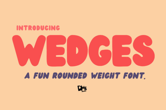 Print on Demand: Wedges Display Font By dmletter31