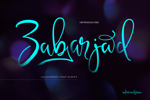 Print on Demand: Zabarjad Script & Handwritten Font By IntrovArtZone