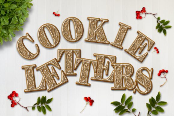 Cookie Alphabet Clipart Set Graphic Objects By Eva Barabasne Olasz