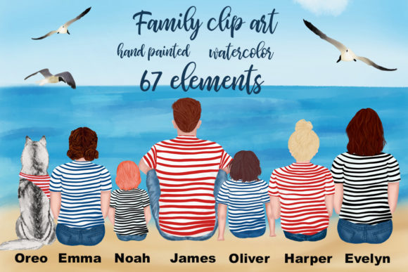 Family Cliart,People Clipart Graphic Illustrations By LeCoqDesign - Image 1