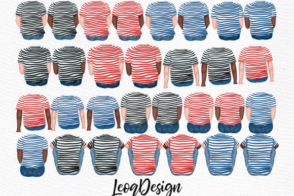 Family Cliart,People Clipart Graphic Illustrations By LeCoqDesign - Image 2