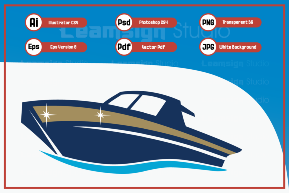 Download Free Illustration Boat Design Graphic By Leamsign Creative Fabrica for Cricut Explore, Silhouette and other cutting machines.
