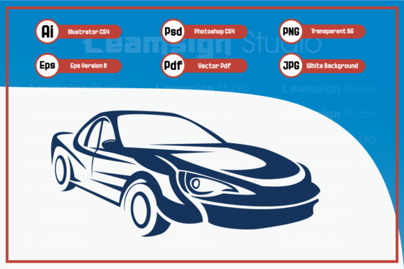 Print on Demand: Illustration Car Silhouette Design Graphic Icons By leamsign