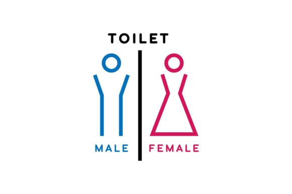 Download Free Male And Female Toilet Sign Icon Vector Graphic By Hoeda80 for Cricut Explore, Silhouette and other cutting machines.