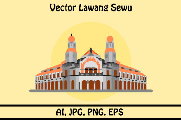 Download Free Vector Lawang Sewu Full Color Graphic By Rafcreative3 Creative for Cricut Explore, Silhouette and other cutting machines.