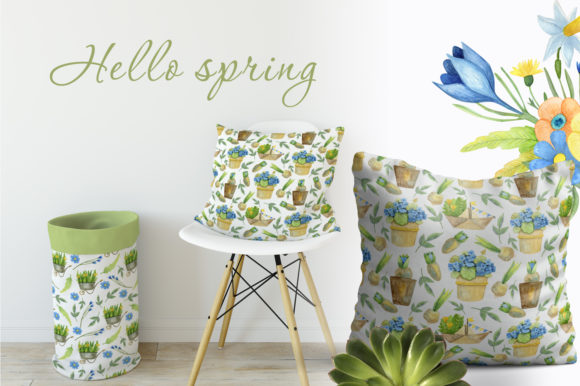 Print on Demand: Watercolor Spring Set Graphic Illustrations By By Anna Sokol - Image 13