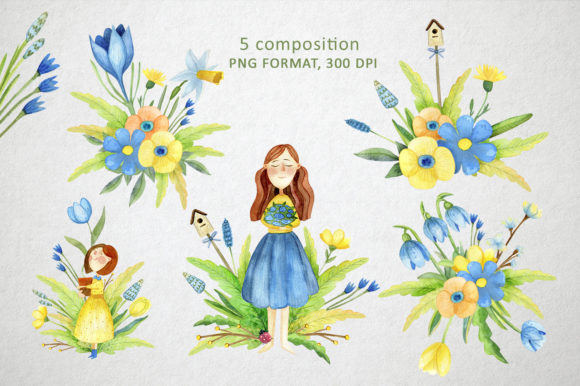 Print on Demand: Watercolor Spring Set Graphic Illustrations By By Anna Sokol - Image 2