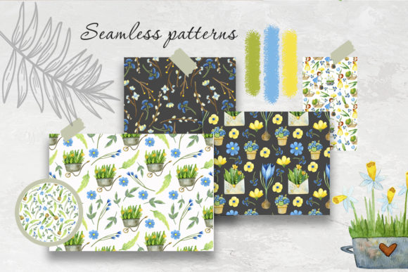 Print on Demand: Watercolor Spring Set Graphic Illustrations By By Anna Sokol - Image 9