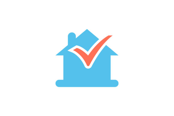 Download Free House With Check Mark Flat Icon Vector Graphic By Riduwan Molla for Cricut Explore, Silhouette and other cutting machines.