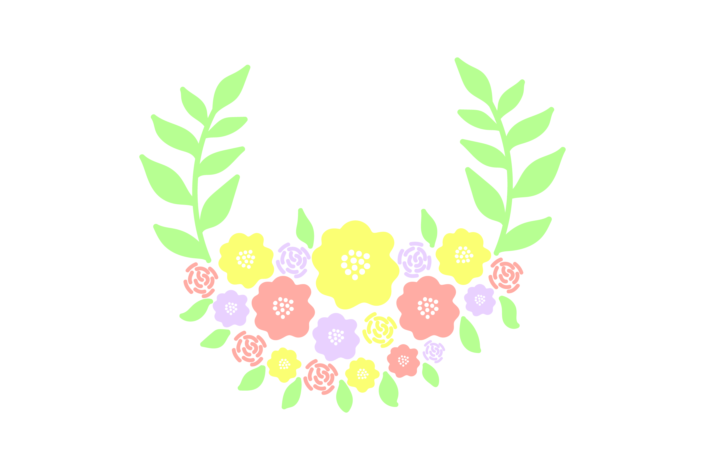 Download Free Colorful Flower Wreath Svg Cut File By Creative Fabrica Crafts for Cricut Explore, Silhouette and other cutting machines.