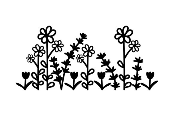 Download Free Field Of Summer Flowers Svg Cut File By Creative Fabrica Crafts for Cricut Explore, Silhouette and other cutting machines.
