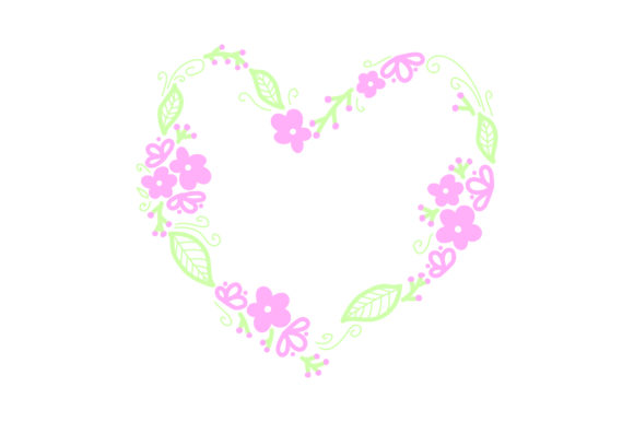 Heart-shaped Pink Flower Wreath Summer Craft Cut File By Creative Fabrica Crafts