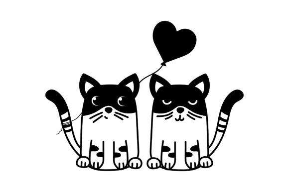 Lover Cats Valentine's Day Craft Cut File By Creative Fabrica Crafts - Image 2