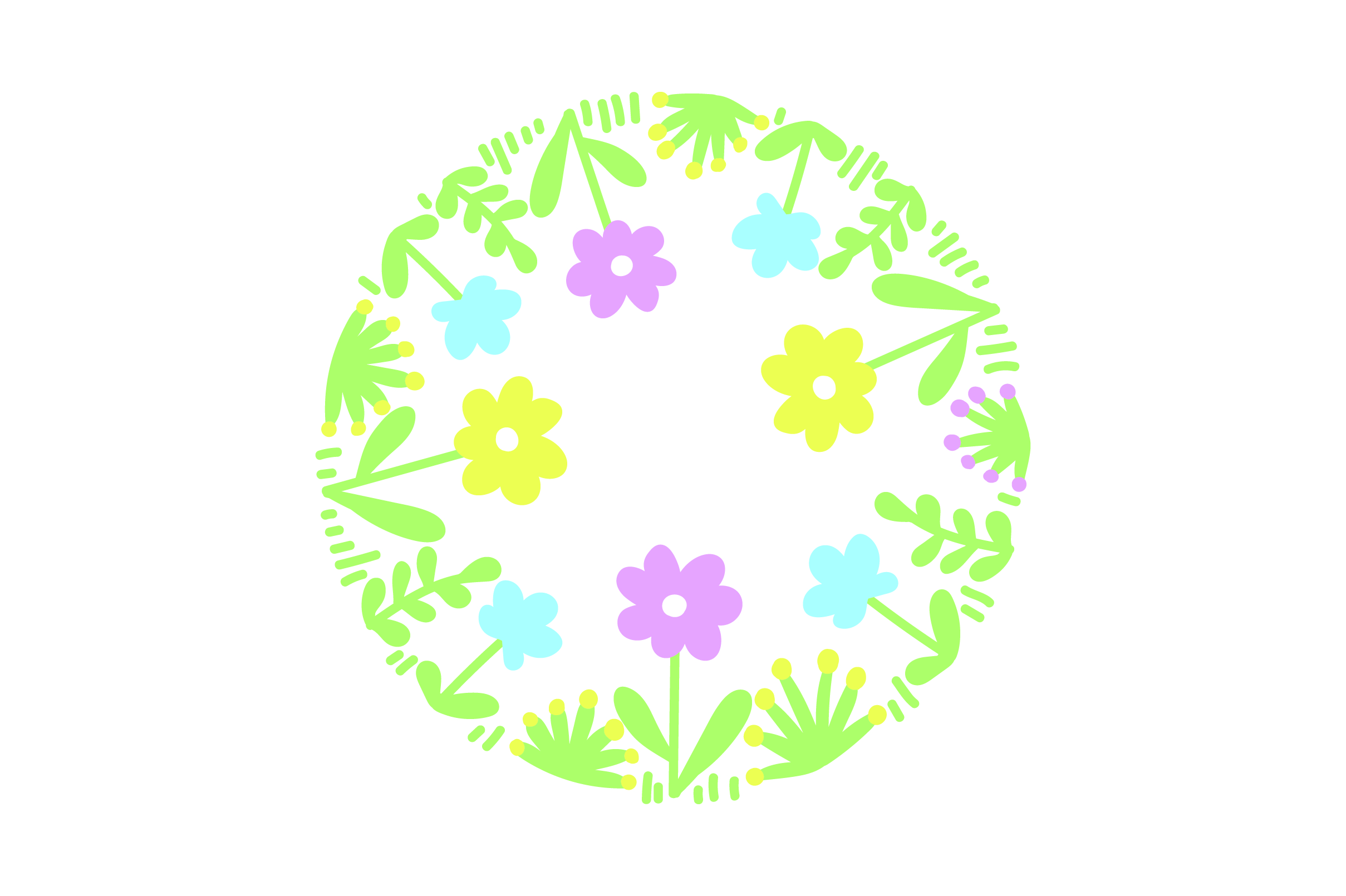 Download Free Round Flower Wreath Svg Cut File By Creative Fabrica Crafts SVG Cut Files