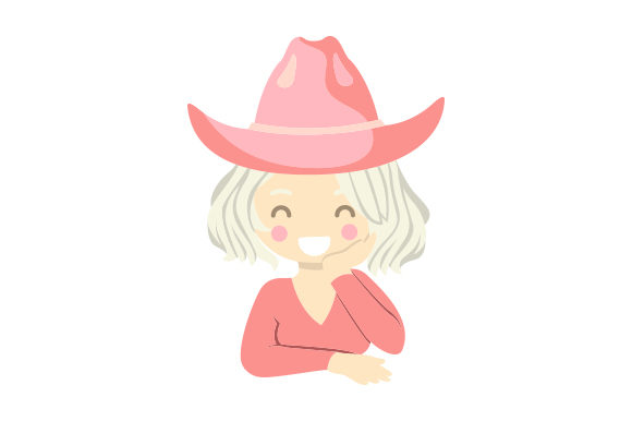 Blonde Cowgirl in Pink Hat Cowgirl Craft Cut File By Creative Fabrica Crafts