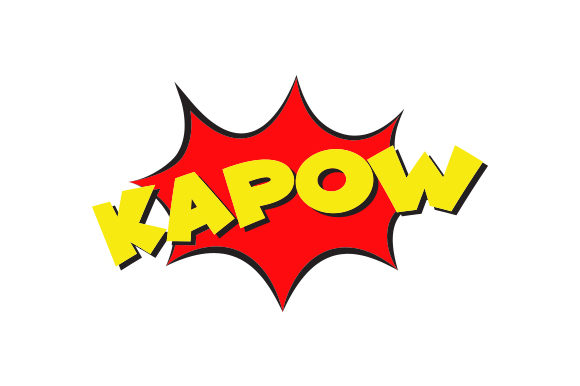 Kapow Comic Design Designs & Drawings Craft Cut File By Creative Fabrica Crafts