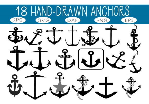 Print on Demand: 18 Anchors Graphic Illustrations By capeairforce
