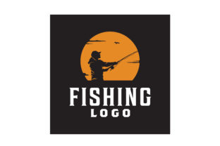 Download Free Angler Fishing Sunset Silhouette Logo Graphic By Enola99d SVG Cut Files