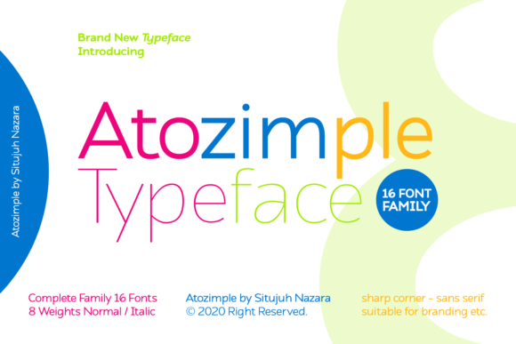 Print on Demand: Atozimple Sans Serif Font By Situjuh