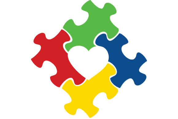Download Free Autism Awareness Puzzle Piece Heart Svg Graphic By Am Digital for Cricut Explore, Silhouette and other cutting machines.