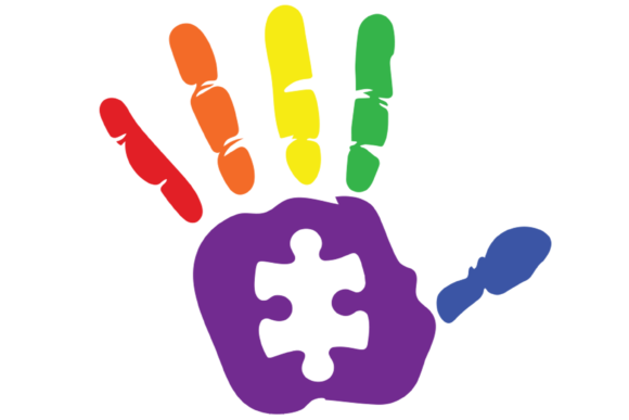 Download Free Autism Rainbow Color Hand Graphic Svg Graphic By Am Digital SVG Cut Files