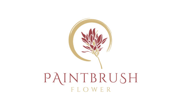 Print on Demand: Beauty Blossom Paintbrush Flower Logo Graphic Logos By Enola99d