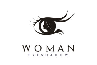 Download Free Beauty Woman Eye Eyelash Silhouette Logo Graphic By Enola99d for Cricut Explore, Silhouette and other cutting machines.