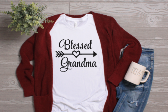 Download Free Blessed Grandma Heart Arrow Graphic Svg Graphic By Am Digital for Cricut Explore, Silhouette and other cutting machines.