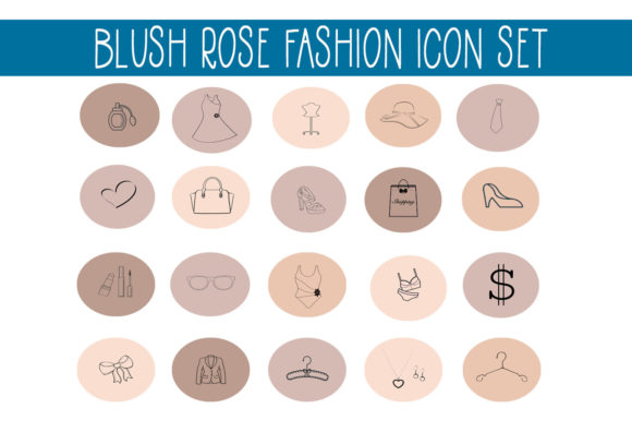 Print on Demand: Blush Rose Instagram Fashion Highlights Graphic Illustrations By capeairforce - Image 1
