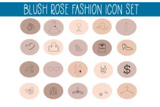 Download Free Blush Rose Instagram Fashion Highlights Graphic By Capeairforce for Cricut Explore, Silhouette and other cutting machines.