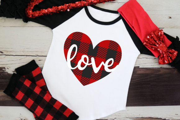Download Free Buffalo Plaid Heart Love Graphic By Morgan Day Designs for Cricut Explore, Silhouette and other cutting machines.