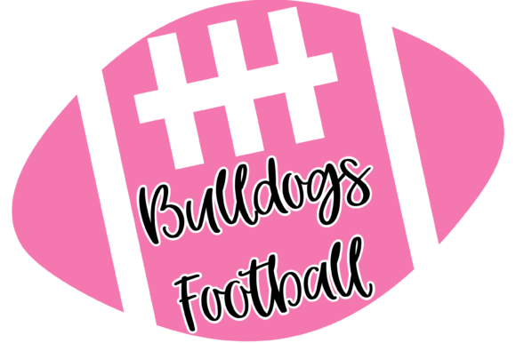 Download Free Bulldogs Pink Football Graphic By Am Digital Designs Creative for Cricut Explore, Silhouette and other cutting machines.