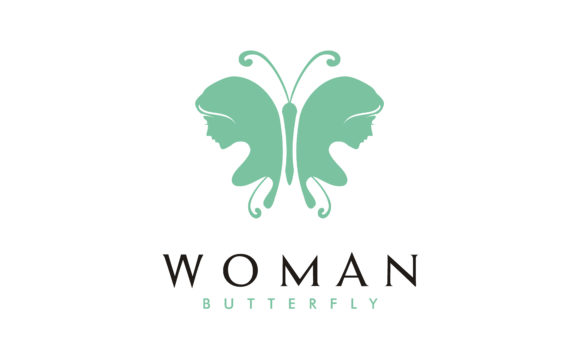 Download Free Butterfly Woman Face Silhouette Logo Graphic By Enola99d for Cricut Explore, Silhouette and other cutting machines.