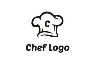 Download Free Chef Hat With Initial Letter C Logo Graphic By Enola99d for Cricut Explore, Silhouette and other cutting machines.